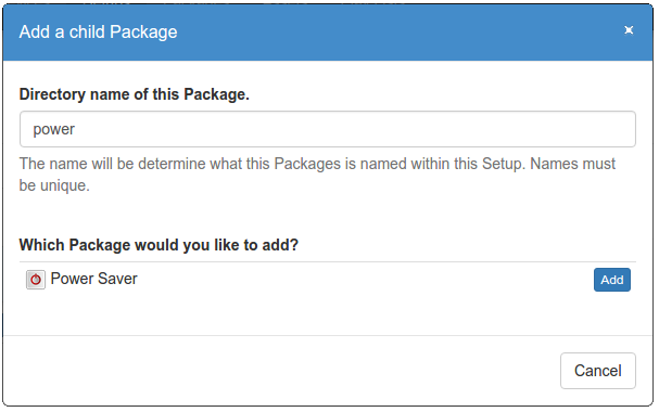 Adding a sub package